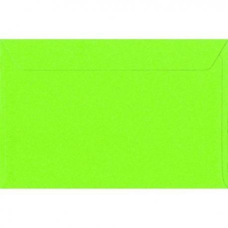 Enveloppe vert anis nacré 12.5 x 18.5 cm