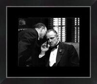 Affiche encadrée Marlo Brando - Le parrain - 24x30 cm (Cadre Tucson)