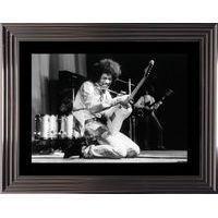 Affiche encadrée Noir et Blanc: Jimmy Hendrix - 50x70 cm (Cadre Tucson)