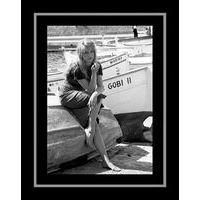 Affiche encadrée Noir et Blanc: St Trop - Bardot - 50x70 cm (Cadre Tucson)