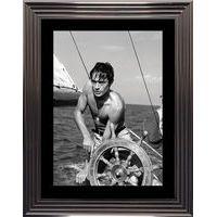 Affiche encadrée Noir et Blanc: Plein soleil - Delon Schneider - 50x70 cm (Cadre Glascow)