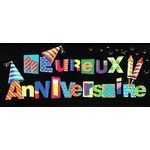 Carte double Ebène - Heureux anniversaire - Fusée d'anniversaire - 21X9 cm