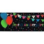 Carte double Ebène - Joyeux anniversaire - C'est la fête - 21X9 cm