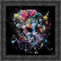 Tableau de Sylvain Binet - Skull - 52.5 x 52.5 cm
