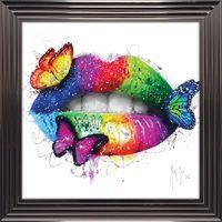 Tableau de Patrice Murciano - Butterfly kiss - 84 x 84 cm