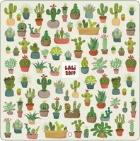 Calendrier Lali 2019 - Cactus - 30x30 cm