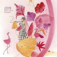 Calendrier Anne-Sophie Rutsaert 2019 - Aimer - 20x20 cm