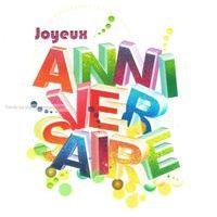 Carte joyeux anniversaire - Collection Caractère - CAR014 - 14.5x14.5 cm