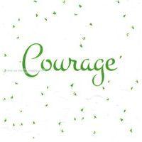 Carte courage - Collection Caractère - CAR037- 14.5x14.5 cm