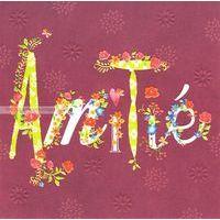 Carte Amitié - Collection Caractère - CAR040- 14.5x14.5 cm