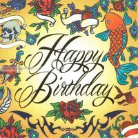 Carte anniversaire Happy birthday - Collection Caractère - CAR057- 14.5x14.5 cm