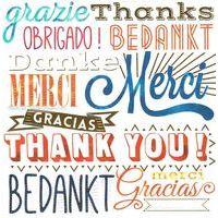 Carte Merci Thank you - Collection Caractère - CAR062- 14.5x14.5 cm