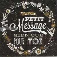 Carte message - Collection Caractère - CAR0710- 14.5x14.5 cm