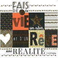 Carte fais de ta vie un rêve - Collection Caractère - CAR080 - 14.5x14.5 cm