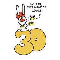 Carte Show lapin - 30 ans la fin des années cool... - Carte anniversaire