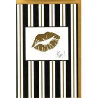 Carte Very Chic - Kiss - 12x17 cm