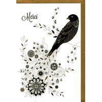 Carte Very Chic - Merci - 12x17 cm