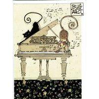 Carte Bug Art - Piano Cats - 12x17 cm