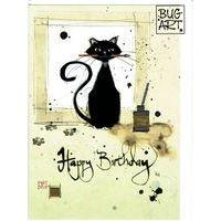 Carte Bug Art - Ink Cat - 12x17 cm