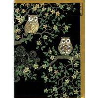 Carte Bug Art - Two Owls in the night - 12x17 cm