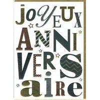 Carte double Sparkle - Joyeux anniversaire - 12x17 cm