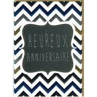 Carte double Sparkle - Heureux anniversaire - 12x17 cm