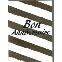 Carte double Sparkle - Bon Anniversaire II- 12x17 cm