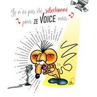 Carte Ze souris folie's - Je n'ai pas été sélectionné pour Ze voice mais... - Carte double 13.7x15.5 cm